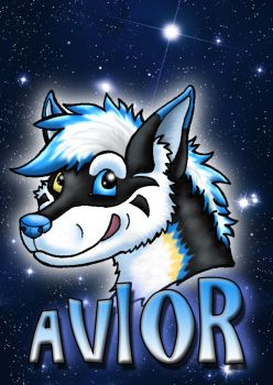 Conbadge for Avior by Psydrache