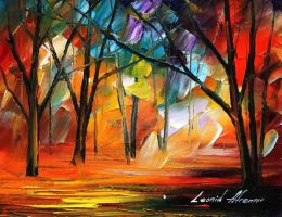 Rain of fire by Leonid Afremov by Leonidafremov