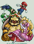 SSBBrawl: Mario Team by karniz