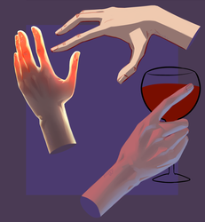 Hand and light study by FroggyLovesCoffee