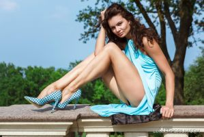 Legs Goddess Rockin' the Sun Dress by LegsEmporium