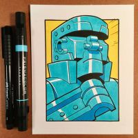 March of Robots Day 16: Blue Bomber by D-MAC