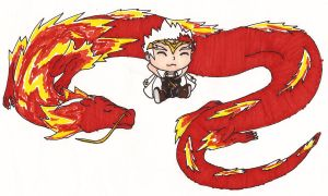 Chibi Ryuga and L-Drago by MegamiMizuL