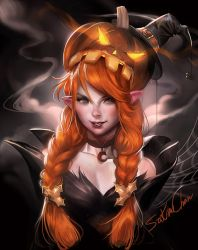 pumkin Elf .happy october . by sakimichan