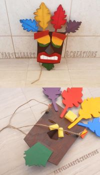 Aku Aku mask - wood replica 1:1 by MithriLady