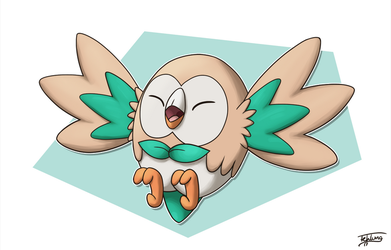 Day 27: Favorite Starter - Rowlet by Fehlung