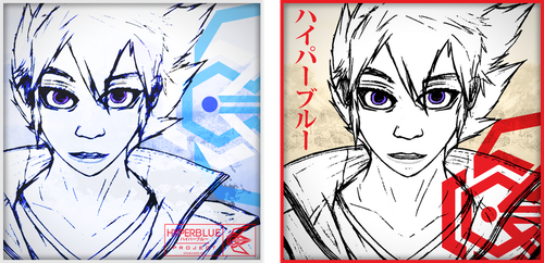 HyperBlue Profile Icons (Traditional Blue and Red) by ProjectHyperBlue