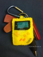 gameboy color keychain plush by whitephant0m