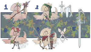 Birdfolk accessories adopts! CLOSED by Forged-Artifacts