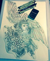 Tattoo design - Sirin