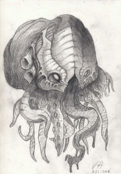 Cthulhu kinda something by NoodelsDuudles
