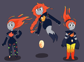 .:closed:.Adoptable fire opals by PersonificationMaker