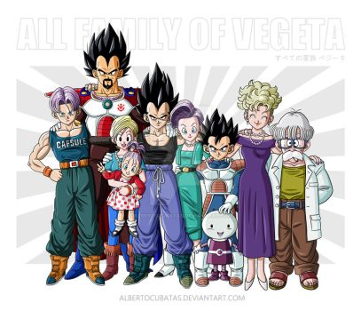 All family of Vegeta by albertocubatas