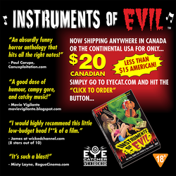 GREAT DEAL on our B-movie 'Instruments of Evil'... by Huwman