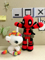 Deadpool + Unicorn Amigurumi by FindMolly