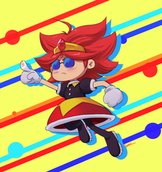 Omelette/Eggette fanmade char from Sonic Mania by raphahardt
