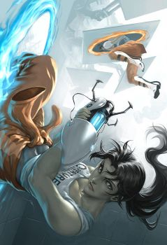 Chell by Quirkilicious