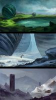 Environmental Sketches by aJVL