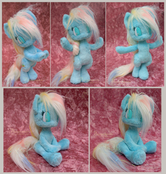 My little anthro pony - handmade plushie by Piquipauparro
