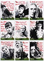 Night of the Living Dead sketch cards 1 by tdastick