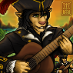 Rosca Portrait, 'Pirate Bard' by rootwork
