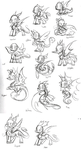 FR Dragons Sketches by SilviShinyStar