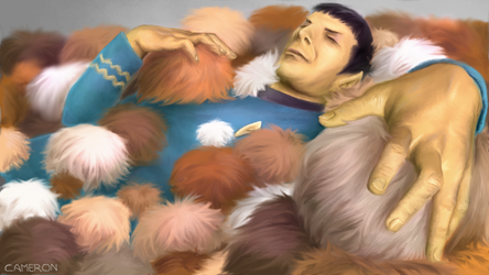 Spock In A Pile Of Tribbles by CameronKobe