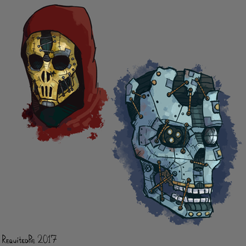 Dishonored inspired masks by screamingpotatoo