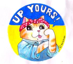 Up Yours Sticker design by Switchum