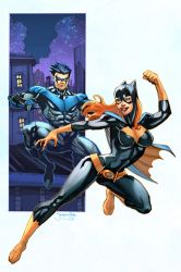 Batgirl Nightwing colors by thejeremydale