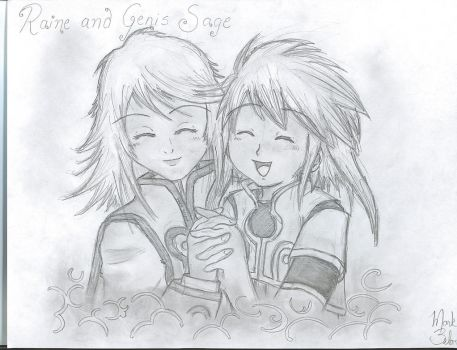 Raine and Genis Sage by Rainemaster