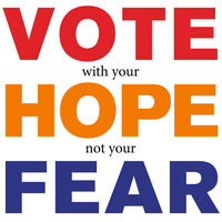Vote Hope Fear by Atratus