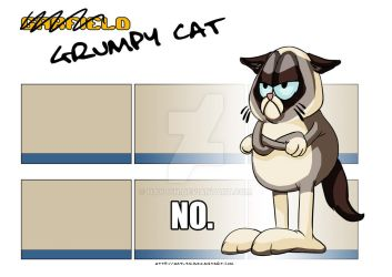 Grumpy Garfield Cat by HayLyn