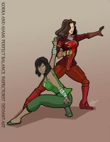 Korra and Asami: Perfect Balance by Inspector97