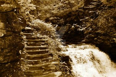 stairs water by MYMICHELLE1970