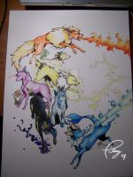 Pokemon - Eevee Evolutions by tiikay