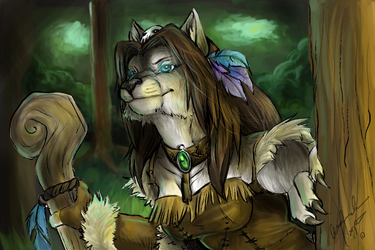 Worgen Druid by IceCatDemon