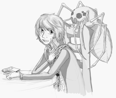 A boy and his GIANT SPIDER by ChaosShadow