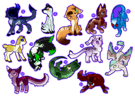 (A) Creature adopts - 60 points (2/12 OPEN) by KiariAnn93