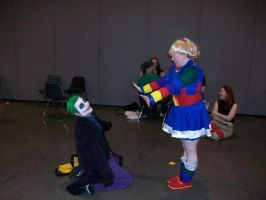 Joker is no match for teh cute by Lady-Tigress