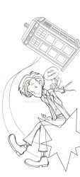 The Doctor and his Fairy companion by Gabycat