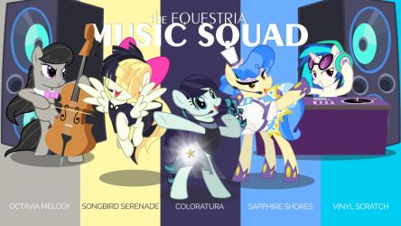 The Equestria Music Squad by jhayarr23