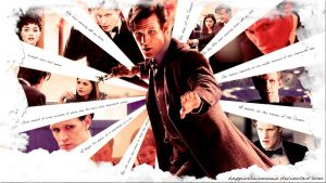 The eleventh doctor wallpaper by HappinessIsMusic