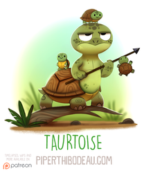 Daily Paint 1596. Taurtoise by Cryptid-Creations