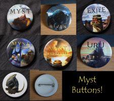 Myst Buttons! by Gehdahnia