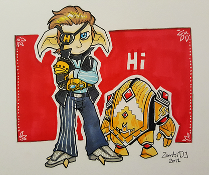 Rhys and LoaderGolem by ZombiDJ