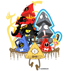 Six sides of Bill Cipher by yugiohwolves