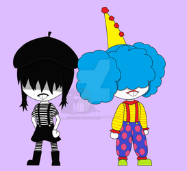 French Fools Chibis by HellStorm8000