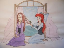 Hayley and Ariel (request) by gold-blonde