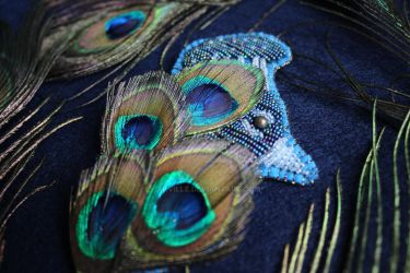 Peacock brooch 3 by akville